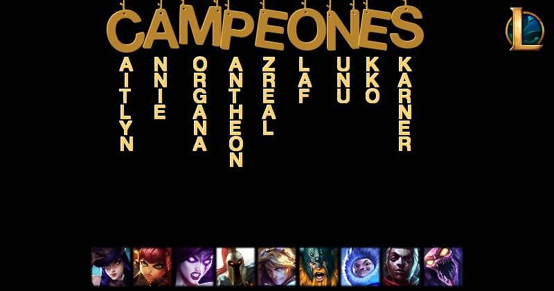 Campeones de League of Legends según tu nombre