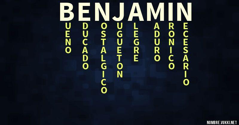 Nombre Benjamin Significado