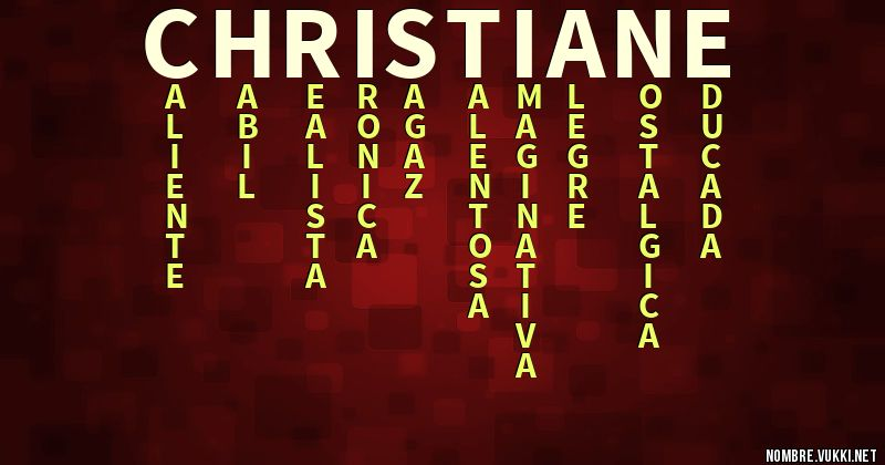 Acróstico christiane