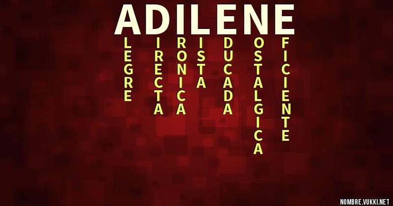 Acróstico adilene