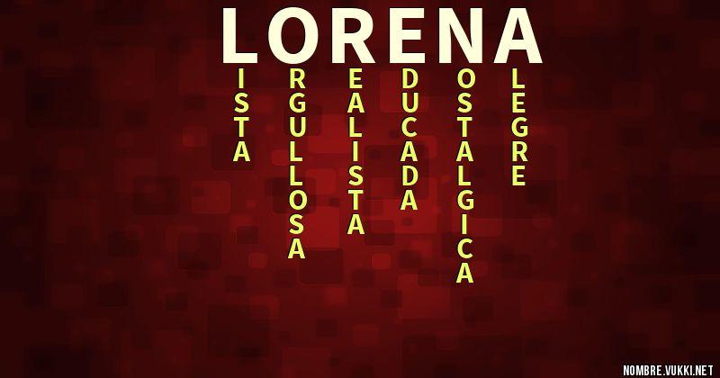 Acróstico lorena