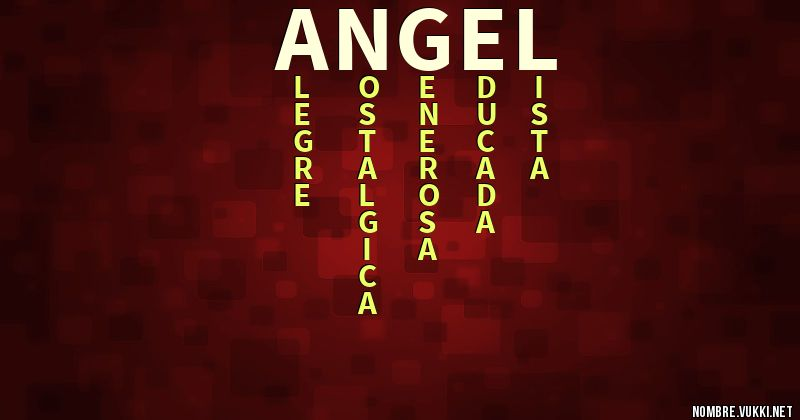 Acróstico Ángel