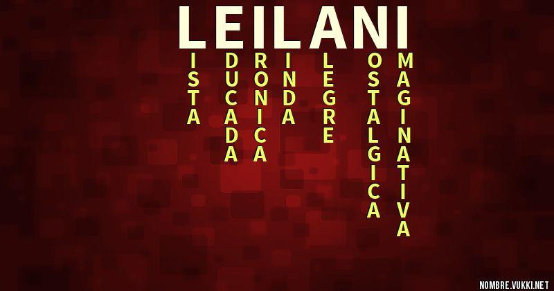 Nombre significado de leilani Nombres de
