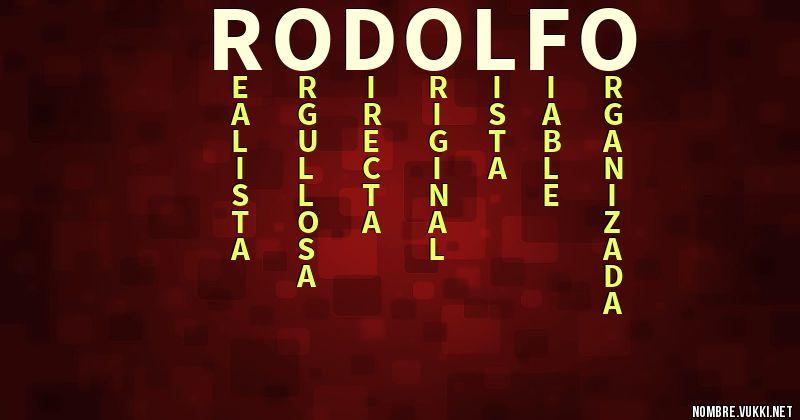 significa rodolfo