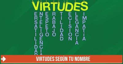 Virtudes según tu nombre